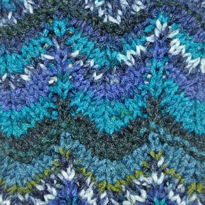 Knitting Chevron stitch Missoni style