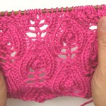 Lace Knitting Stitch * Flaming hearts reversible