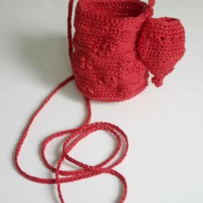 häkeln Kombibeutel in rot
