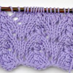 Lace Knitting Stitch * Small Gothic Arcs