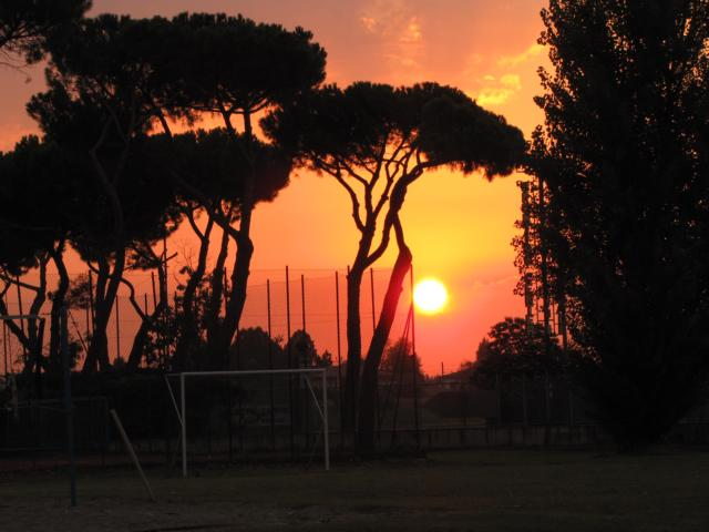 Sonnenaufgang in Montegrotto Therme