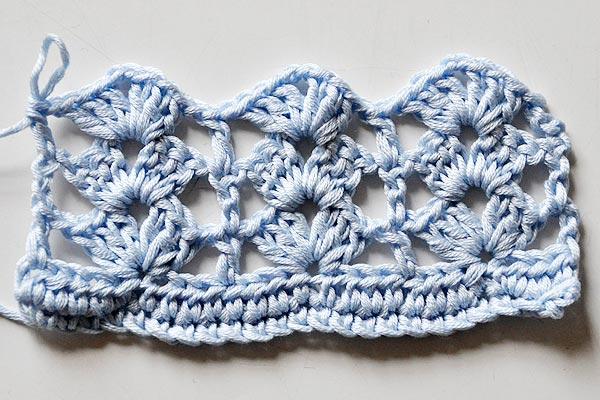 Crochet Stitch * Rows of Shells