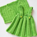 Strickanleitung * Trgerrock &#8220;Mathilde&#8221; mit Bolero fr Gren 3M. bis 6J.