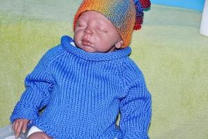 Stricken * Babypulli Raglan vu