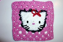 Häkeln * Hello Kitty Granny Square