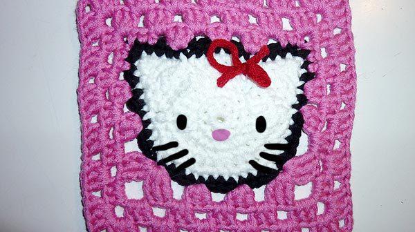 Häkeln * Hello Kitty Granny Square
