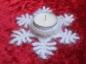 Teelichthalter Schneeflocke