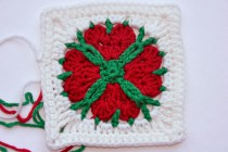 "Adventskalender * 24. Dezember * Granny Square ""4 Hearts 4 You"" by Lila"