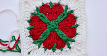 "24. Dezember * Granny Square ""4 Hearts 4 You"""