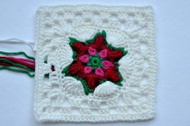 "Adventskalender * 22. Dezember * Granny Square ""Poinsettia"" by Gittili"