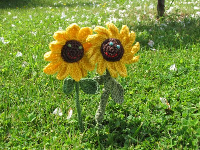 Häkelanleitung * lachende Sonnenblumen | Stricken und Häkeln mit eliZZZa