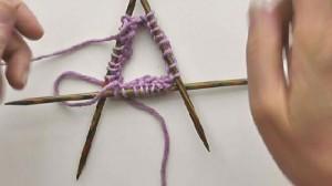 Socken Stricken mit Nadelspiel 3+1