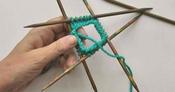Socken stricken mit Nadelspiel 4+1