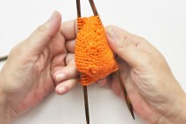 Socken Serie #09 * Socken stricken von der Spitze weg * eliZZZa's Super Easy Auffi-Abi Anschlag