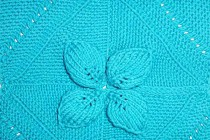 Neue Strickanleitung * Blätterecken für Decken, Kissen u.v.m.