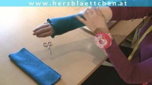 Nähen * Loop mit Kapuze & Armstulpen * Teil #04