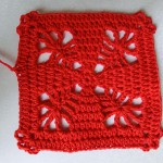 "nadelspiel Advent Calendar 2012 * December 03 * Granny Square ""4 Trees"""