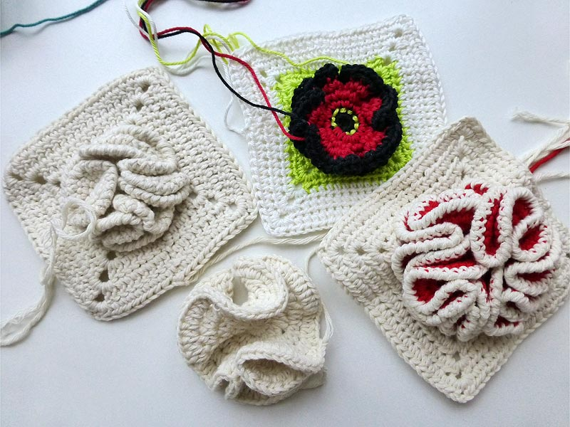 Nadelspiel Advent Calendar 2012 December 17 Granny Square