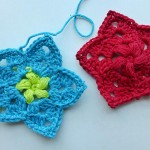 "nadelspiel Advent Calendar 2012 * December 10 * Crochet Star ""Flowers in the Snow"""