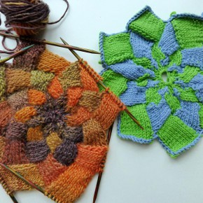 19. Dezember 2012 * Stricken * Entrelac Stern * nadelspiel Adventskalender 2012