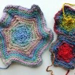 "nadelspiel Advent Calendar 2012 * December 04 * Knitted Element ""Hexagon Star"""