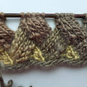 Stricken * Entrelac in Reihen ohne Wenden