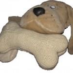 Gehäkelter Hundeknochen oder Nackenkissen