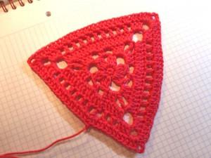 "9. Dezember 2013 * Granny Triangle ""Blümchen"" * nadelspiel Adventskalender"