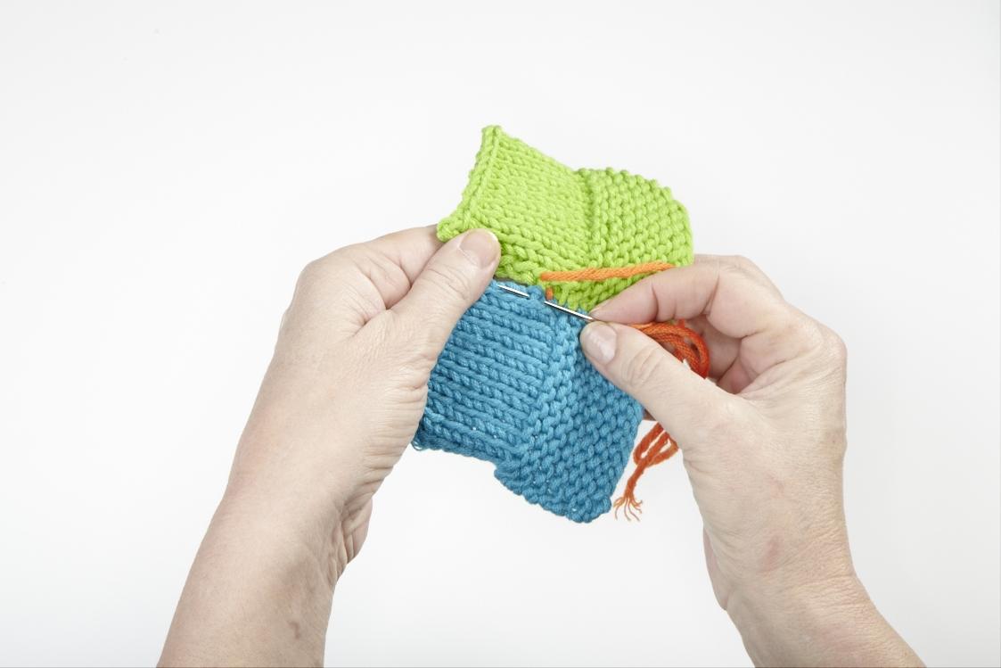 Videokurs Stricken * Strickteile zusammennähen