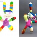 Kinderzeichnung als Amigurumi