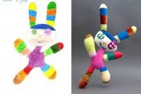 Wenn Kinderzeichnungen zu Puppen werden