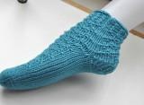 Super Easy Socken von der Spitze stricken lernen