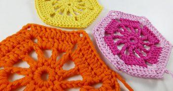 16. Dezember 2014 * Häkeln Hexagon Sunshine * nadelspiel Adventskalender