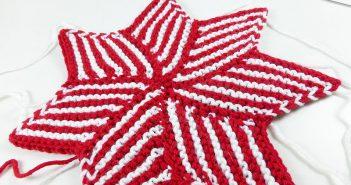 5. Dezember 2014 * Gestrickter Stern aus Hexenecken * nadelspiel Adventskalender