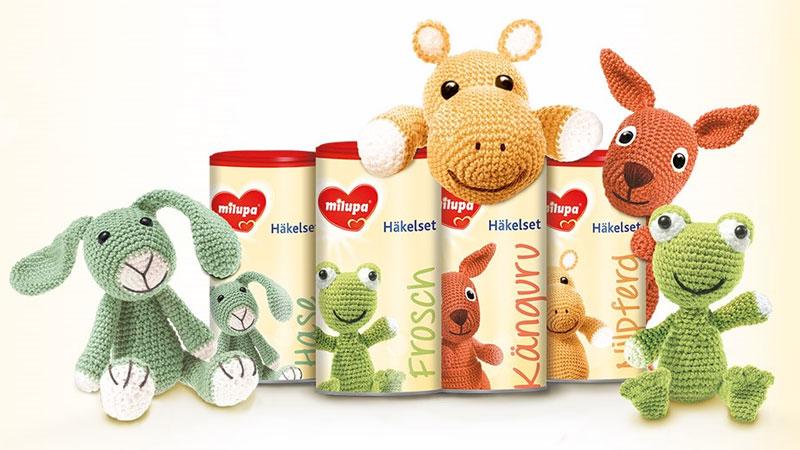Milupa Häkeltiere-Set jetzt kostenlos bestellen!