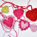 Crochet Hearts in 3 Sizes