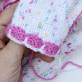 Stricken * Hello Kitty Kinderpulli * Ärmelbündchen