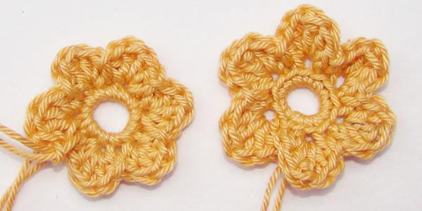 Einfache Häkelblumen Variation Zusätzliches Doppeltes Stäbchen