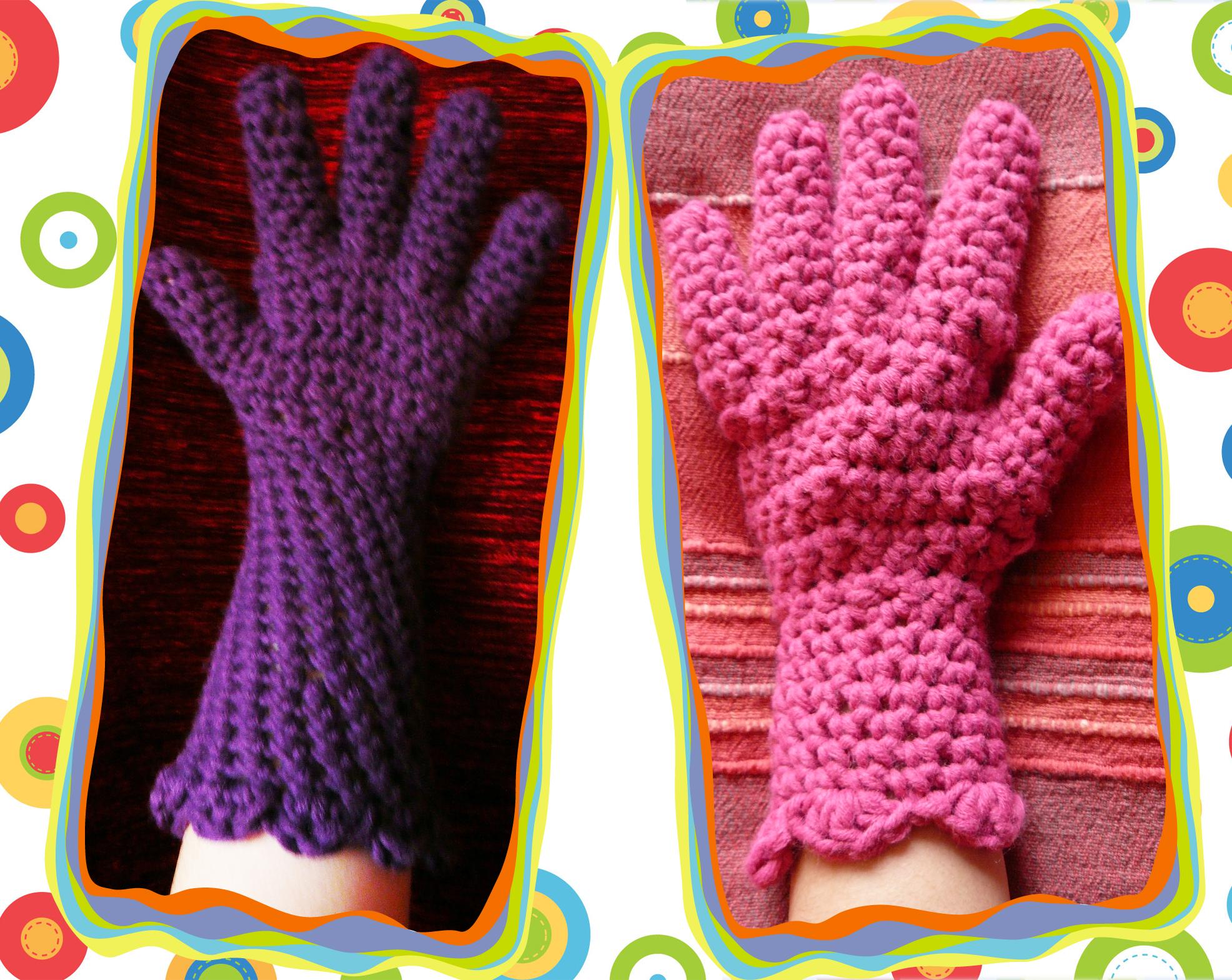 Gehäkelte Handschuhe » Stricken und Häkeln mit eliZZZa