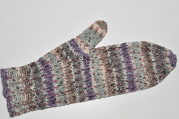 Handschuhe Basis Fäustlinge In Sockenwolle 6 Fach Stricken Und