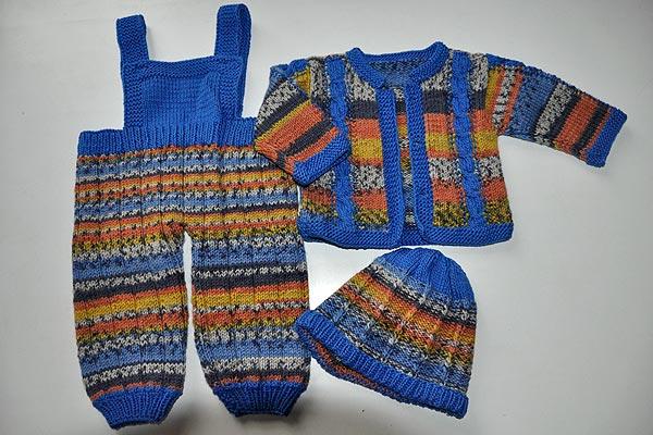 Strickanleitung Babyset Latzhose Jacke Muetze Blau 1 Stricken Und