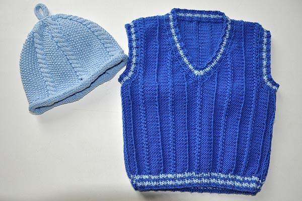 strickanleitung-kinderpullunder-muetze-blau-1 » Stricken und Häkeln ...
