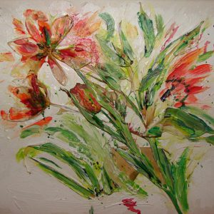 Echte Tulpen mit Acryl