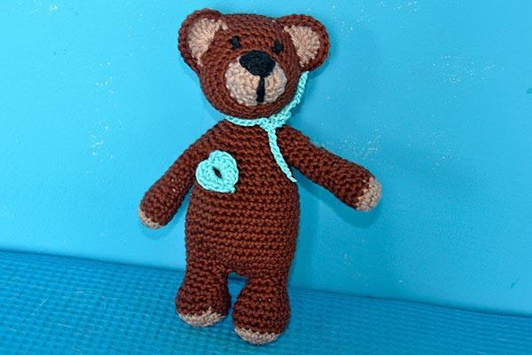 Kostenlose Häkelanleitung * Super Easy Teddybär | Stricken und ...