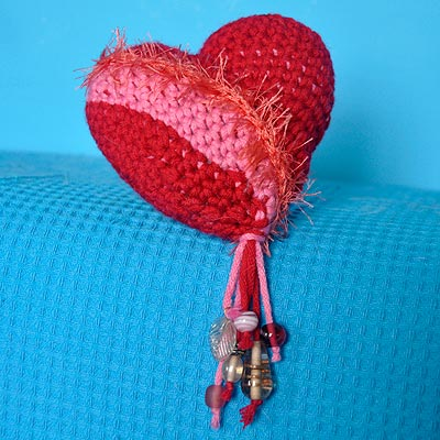 Häkeln Herz Zweifarbig Stricken Und Häkeln Mit Elizzza