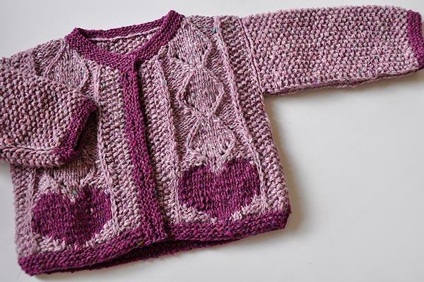 strickanleitung maedchen joppe tweed » Stricken und Häkeln