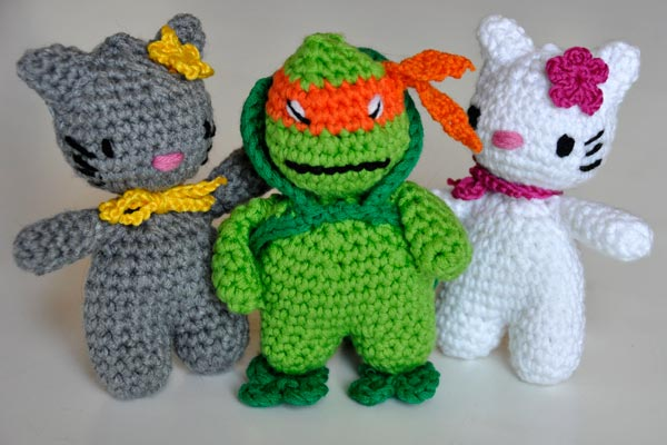 Häkelanleitung * Hello Mikey * Ninja Turtle * Amigurumi | Stricken ...