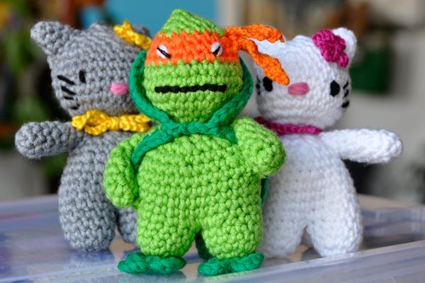Häkelanleitung Hello Mikey Ninja Turtle Amigurumi Stricken