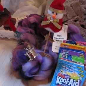 Merinostrang zum Spinnen & Kool Aid zum Färben von Astrid