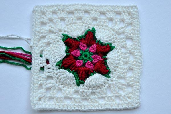 "22. Dezember * Granny Square ""Poinsettia"""